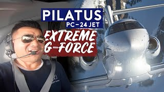 Test Flight on Pilatus PC-24. Extreme G-Force!