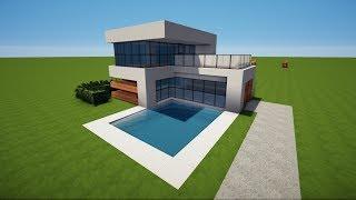 X KLEINES MODERNES MINECRAFT HAUS Bauen TUTORIAL HAUS видео Видео - Minecraft kleines haus bauen tutorial deutsch