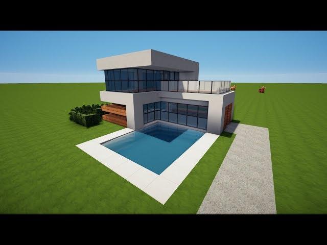 Minecraft Pe Modernes Haus Klein X Modernes Haus Bauen Tutorial - Minecraft pe haus bauen deutsch