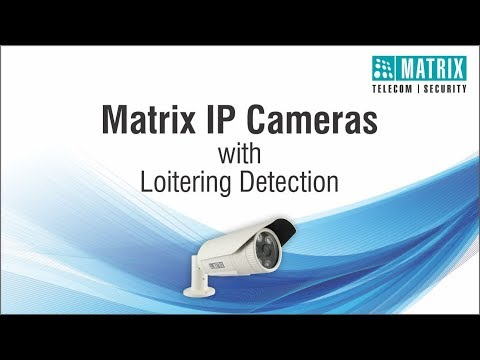 IP Cameras, Loitering Detection - Intelligent Video Analytics, Matrix Security System