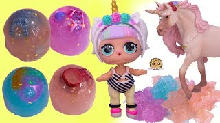 Jelly Layer Dress Up ! Unicorn LOL Surprise Outfits Fashion Crush Blind Bag Cups