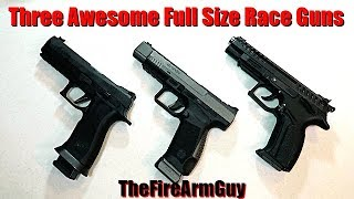 Three Excellent Full Size 9mm Competition Handguns - TheFireArmGuy