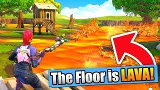 THE FLOOR IS LAVA CHALLENGE! (Fortnite Battle Royale)