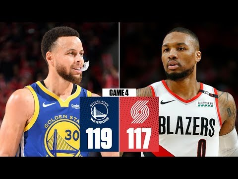 Warriors Sweep Trail Blazers Behind Steph Curry's Triple-double | 2019 NBA Playoff Highlights
