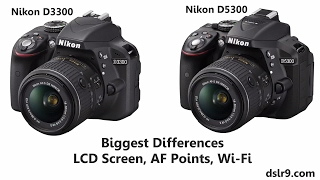 Nikon D3300 vs D5300 Comparison (Hindi)