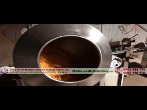 Máy trộn bánh tráng muối tôm, khô gà hiệu quả