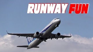 AllNipponAirwaysAirbusA320NewChitoseAirportTakeoff新千歳空港