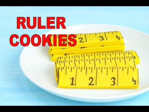 FATHER'S DAY/SCHOOL RULER COOKIES, HANIELA'S