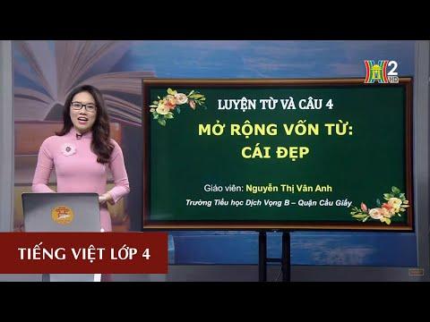 MÔN TIẾNG VIỆT - LỚP 4 | LTVC: MỞ RỘNG VỐN TỪ: CÁI ĐẸP | 19H45 NGÀY 22.04.2020 | HANOITV