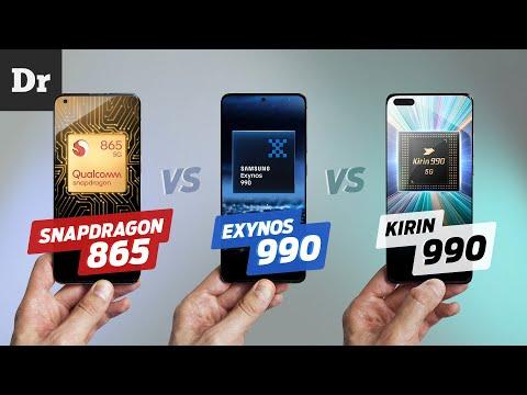 SNAPDRAGON 865 vs EXYNOS 990 vs KIRIN 990: Кто МОЩНЕЕ?