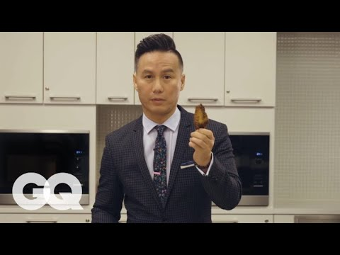 Watch B.D. Wong Teach You The Simplest, Cleanest Way To Eat A Chicken Wing