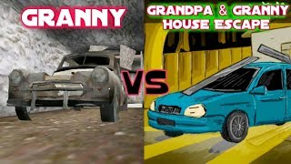 Car Escape | Granny vs Grandpa And Granny House Escape
