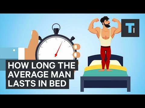 How long the average man lasts in bed