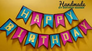 DIY Birthday Banner I Easy And Colourful Birthday Banner In Few Minutes I DIY Paper Craft Projects