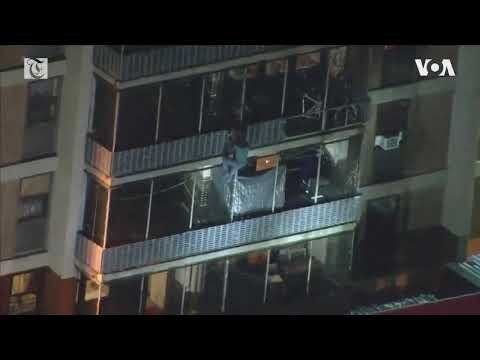 Philadelphia man scales down 19-floor building to escape fire