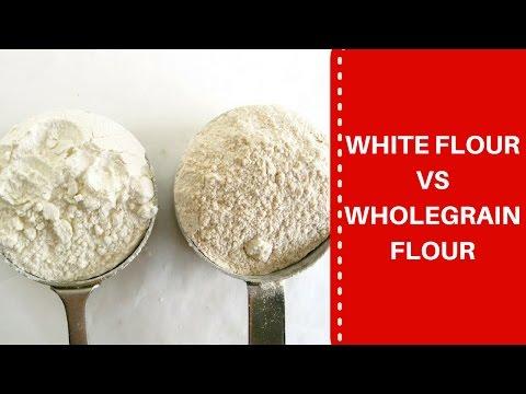 White flour vs Whole grain flour