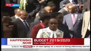 National Treasury CS Rotich meets journalists, showcases briefcase containing #BudgetKE2019