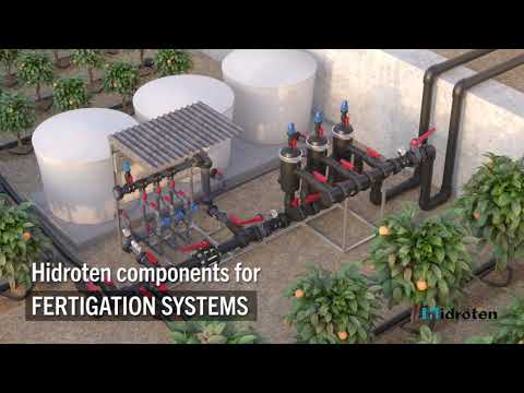 Fertigation systems with Hidroten products