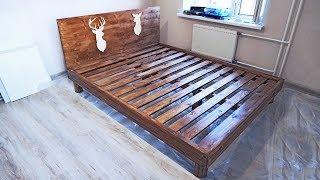 Кровать своими руками из дерева (бруски и мебельный щит)