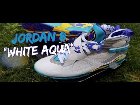 "*UNRELEASED* AIR JORDAN 8 WMNS ""WHITE AQUA"" (FIRST LOOK) [+ON FOOT] 
