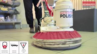 Operating a Floor Polisher