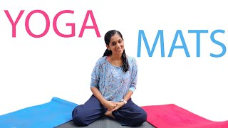 Yoga Mats | Best Yoga Mat to Use | Different types of Yoga Mats | Yogalates with Rashmi
