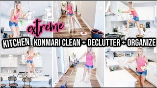 NEW! EXTREME ORGANIZE + DECLUTTER + CLEAN WITH ME 2020 | KITCHEN TRANSFORMATION |CLEANING MOTIVATION