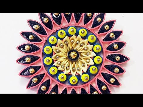DIY Wall Decor Ideas : Quilling & Kanzashi Wall Hanging | Handmade Decoration Ideas