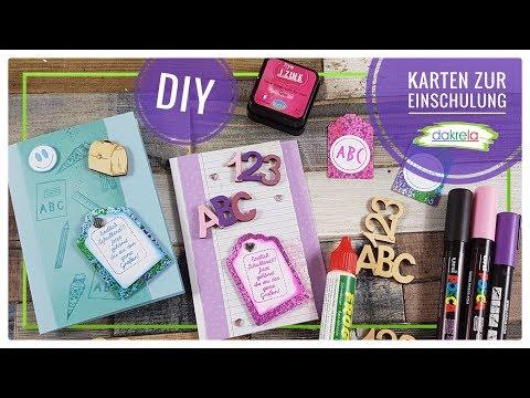 Karten zur Einschulung selber basteln - Kartenbasteln  DIY Papier Inspirationen [Tutorial | deutsch]