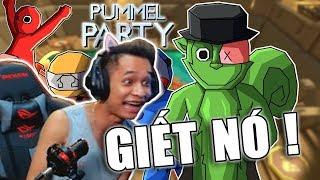 Cười bò khi Độ Tày cùng Anh em chơi Pummel Party cực bựa.
