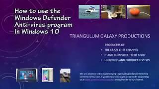 How To Use Windows Defender Antivirus