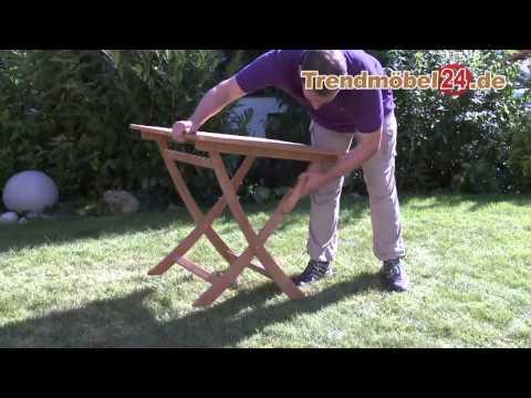 Gartenklapptisch Gartentisch Catar jetzt in FSC Eukalyptus