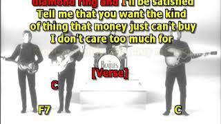 Beatles Can't Buy Me Love mizo western lead guitar lyrics chords