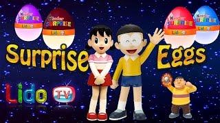 Surprise Eggs Toys Doraemon Cartoon  ☘ Surprise Toys Doraemon Collection 🍀 Lido TV