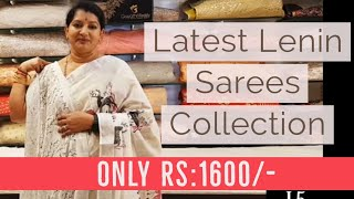 Latest Lenin Saree Collections ONLY RS.1600/-   #gayathrireddy#leninsarees#latest#designer#best#cool