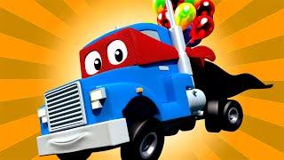 The HOT AIR BALLOON TRUCK + Carl the Super Truck - Car City ! Cars and Trucks Cartoon for kids