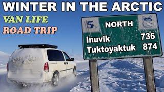 Van Life Winter Trip to the Arctic Ocean - Dempster Highway