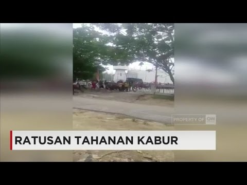Detik-detik Ratusan Tahanan Kabur dari Rutan Sarang Bungku Pekanbaru