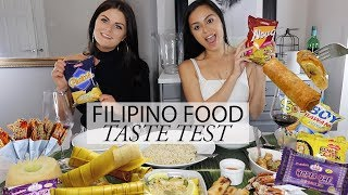 SHE TRIES FILIPINO FOOD |  FIRST TIME | TASTE TEST