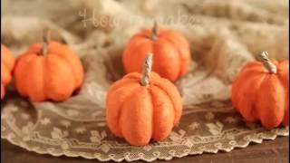 How To Make Spun Cotton Pumpkins!  DIY Fall Craft Tutorial