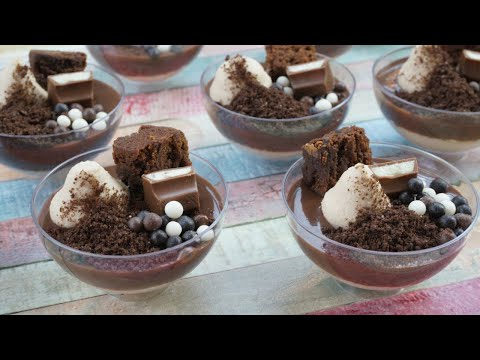 POSTRES EN VASITOS DE CHOCOLATE KINDER / ESPECIAL 30.000 SUSCRIPTORES