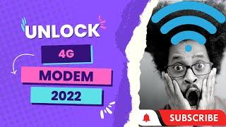 HOW TO UNLOCK HUAWEI MTN 4G MODEM