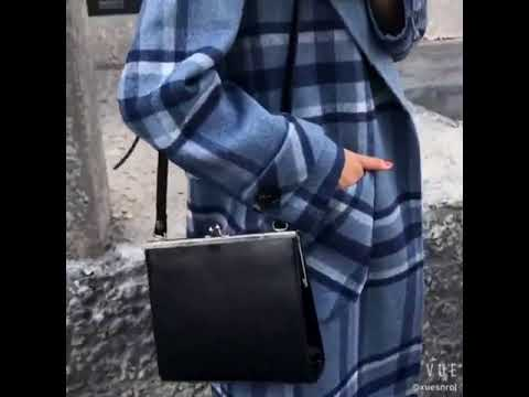 Cashmere coat plaid