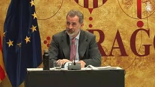 Palabras de S.M. el Rey en la reunión de la Fundación Goya en Aragón