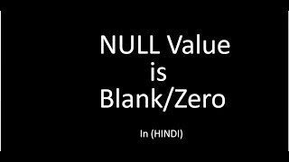 Null value & Blank/Zero in mysql query