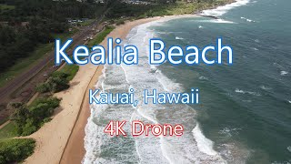 Kealia Beach, Kauai, Hawaii | 4K Drone | Beautiful Island Beach | DJI Mavic Air 2 | Quadcopter | HI
