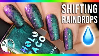 Shifting Multichrome Raindrop Nails💧💅 (EASY!)