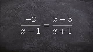 Solving a rational equation by not using cross multiplication