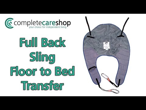 Demonstration of Floor to Bed transfer using Oxford Full Back Sling