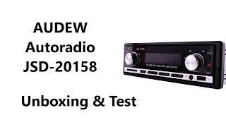 AUDEW Autoradio JSD-20158 - Unboxing & Test